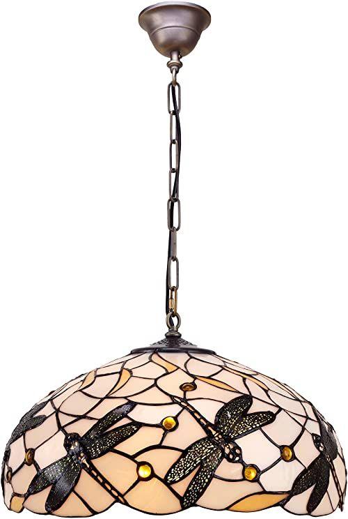Lampa sufitowa Tiffany Zawieszka: seria Pedrera śr. 45 cm wys. 35/140 cm 3 x E27 maks. 60 W
