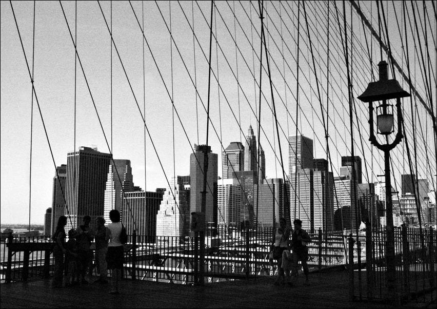 Nowy jork. new york bridge - plakat wymiar do wyboru: 30x20 cm