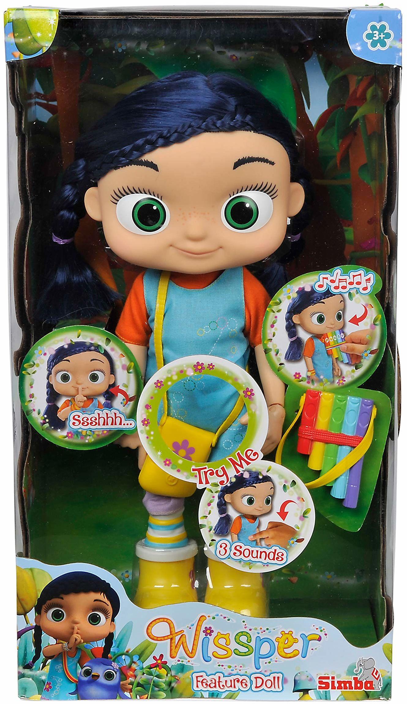 Simba 109358495 109358495-Wissper lalka funkcyjna, 34 cm, kolorowa