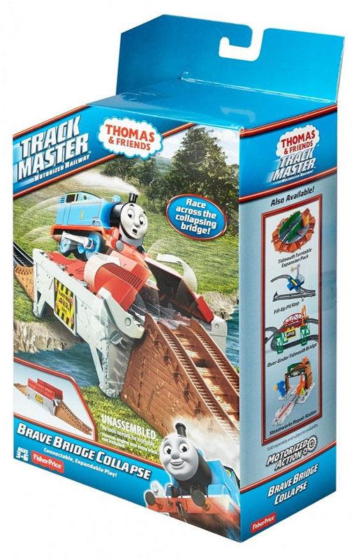 Fisher Price Track Master - Zestaw torów do rozbudowy Zapadający się most śmiałków DFM63