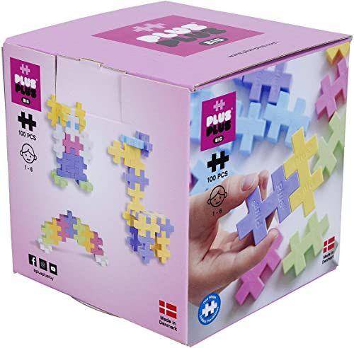 Plus-Plus 9603412 klocki kreatywne, duży zestaw pastelowy, genialna zabawka konstrukcyjna, 100 części
