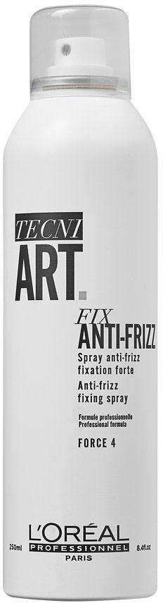Loreal tecni.art FIX ANTI-FRIZZ mocny spray utrwalający do włosów puszących się 250ml