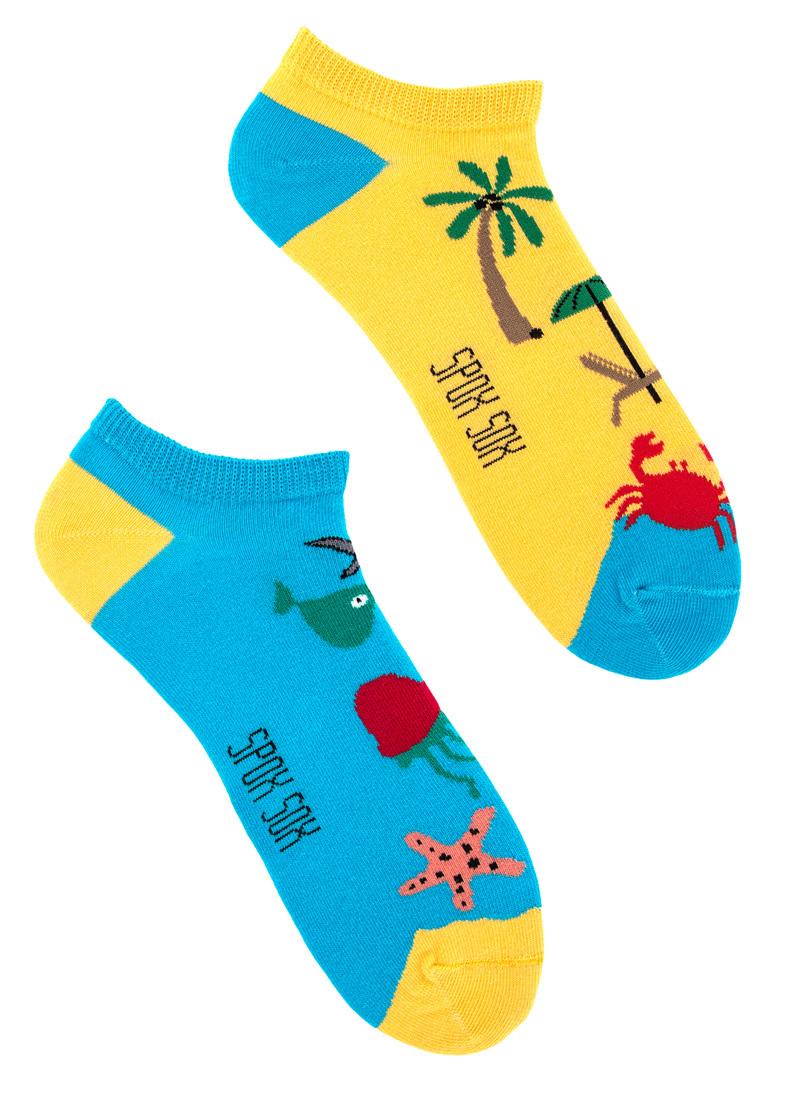 Stopki kolorowe SPOX SOX - MORZE PLAŻA wakacje, rybki