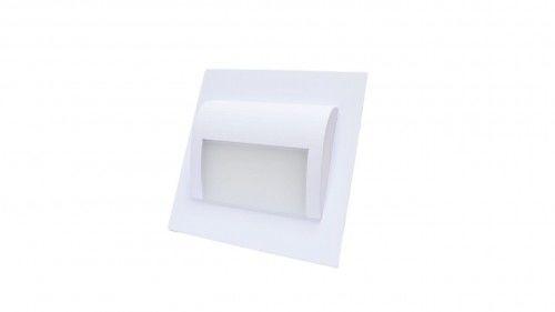 Oprawa schodowa LED 1,2W 12V DECORUS biała ciepła - biała