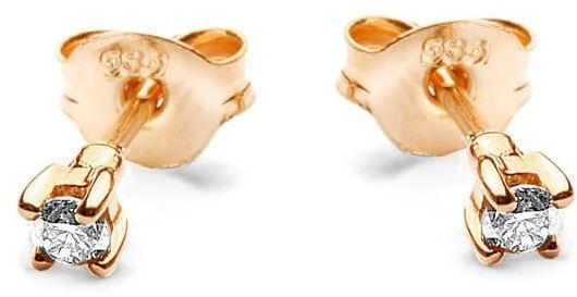 Złote kolczyki - Diament