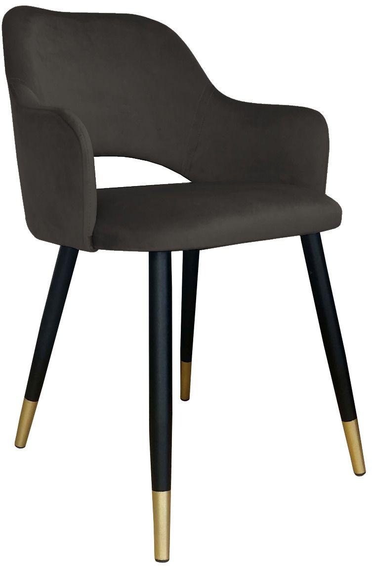 Krzesło NAPO VELVET GOLD brązowe