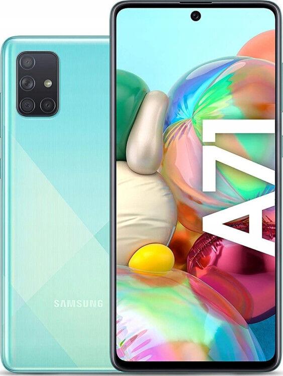 Samsung Galaxy A71 Niebieski/Blue SM-A715FZBUXEO