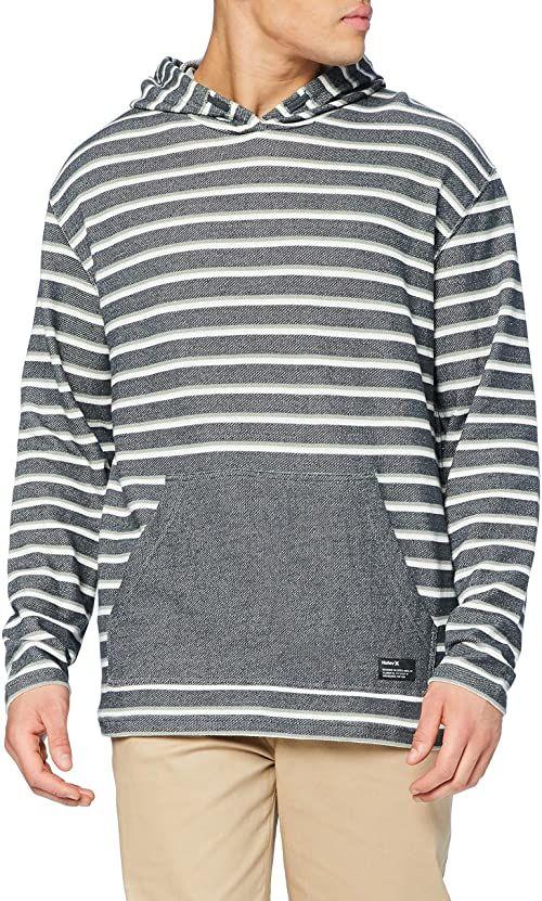 Hurley Mens M Modern Surf Poncho Stripe T-Shirt, Seaweed, L
