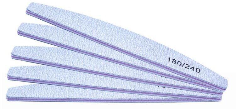 5 x PILNIK DO PAZNOKCI ŁÓDKA ZEBRA 180/240 (CZ)