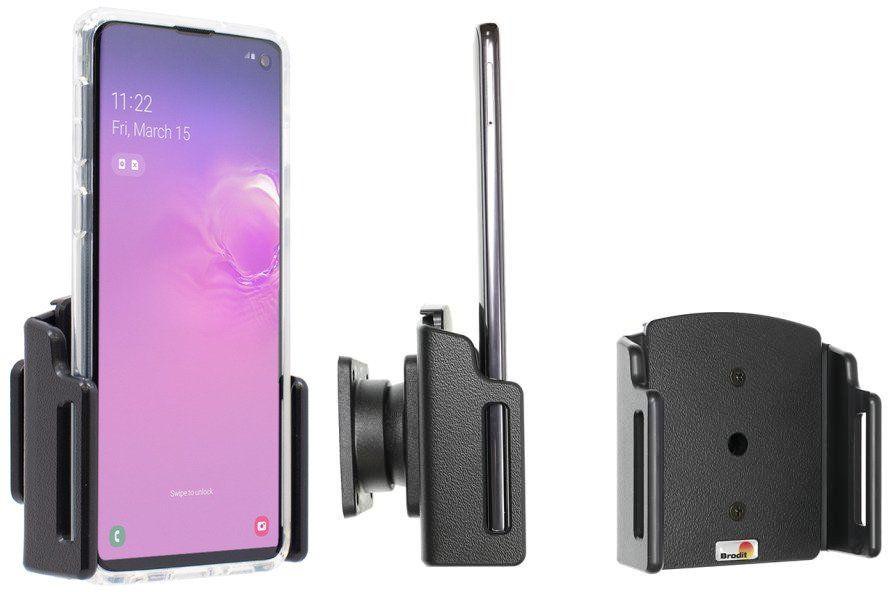 Uchwyt uniwersalny regulowany do Samsung Galaxy S10+ bez futerału oraz w futerale lub etui o wymiarach: 70-83 mm (szer.), 2-10 mm (grubość)