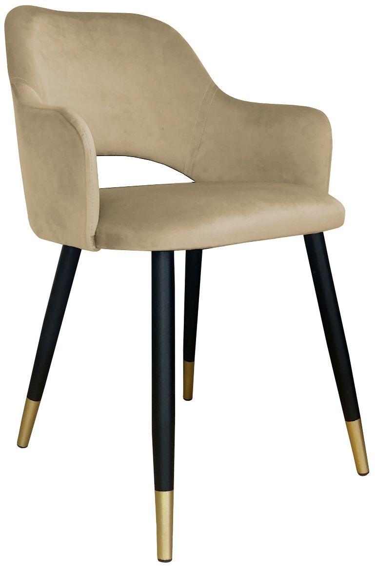 Krzesło NAPO VELVET GOLD beżowe