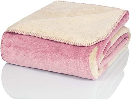 Glart Koc do wtulania się Altrosa renifer XL 150 x 200 cm, miękki i ciepły koc wełniany, bardzo puszysty jako narzuta na sofę, koc na kanapę, przytulny koc do mieszkania, pluszowa narzuta na sofę