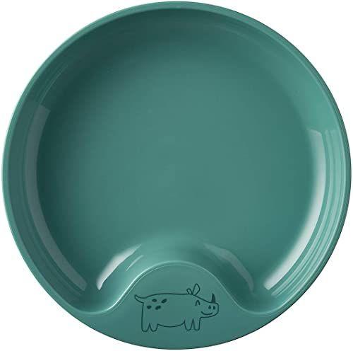 Mepal  Talerz do nauki Mio deep turquoise  antypoślizgowy talerz dla dzieci  talerz dla niemowląt  można używać w kuchence mikrofalowej  nadaje się do mycia w zmywarce
