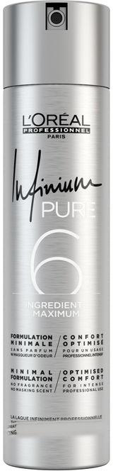 Loreal Infinium Pure Soft Suchy Lakier do włosów bezzapachowy poziom utrwalenia 2 500ml