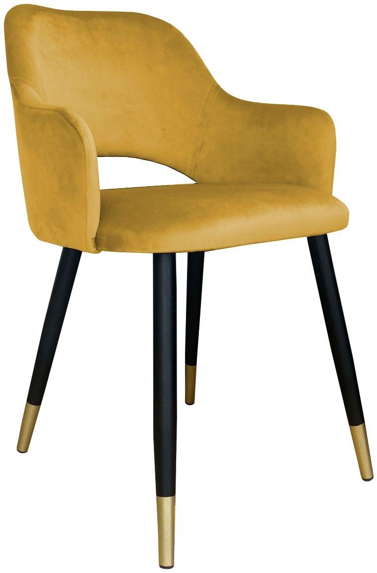 Krzesło NAPO VELVET GOLD żółte