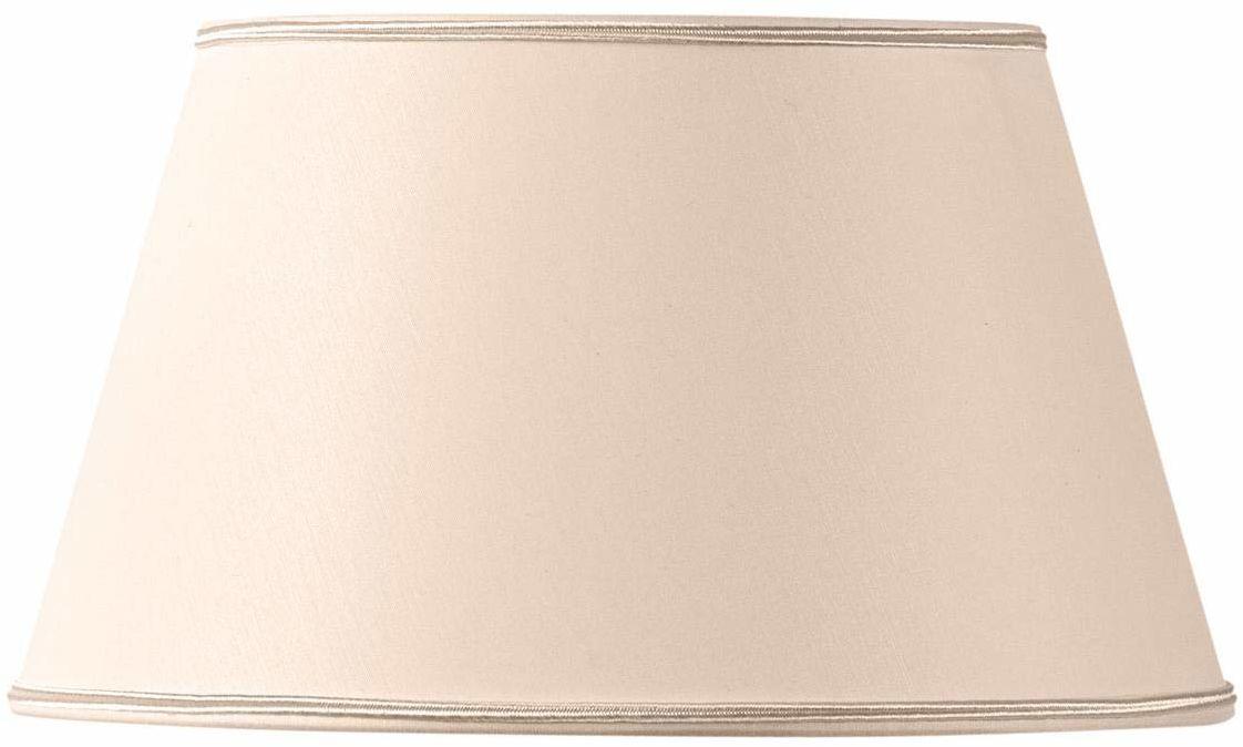 Klosz lampy w kształcie pół Empire, 40 x 28 x 23 cm, beżowy/różowy