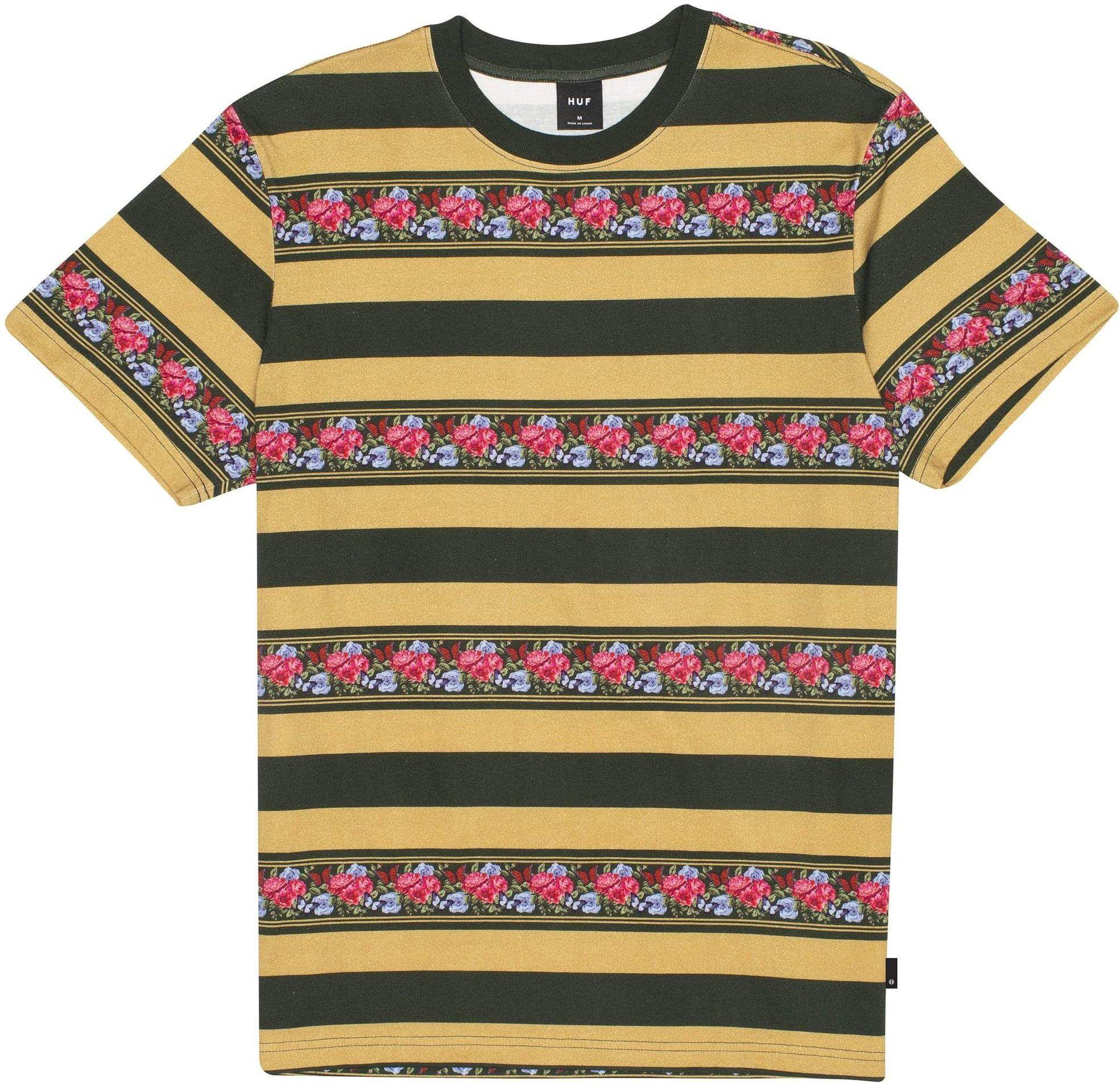 t-shirt męski HUF MONARCH STRIPE KNIT Camel