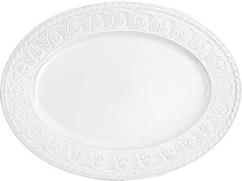 Villeroy & Boch Cellini owalny talerz do serwowania, porcelana premium, biały, 40 cm