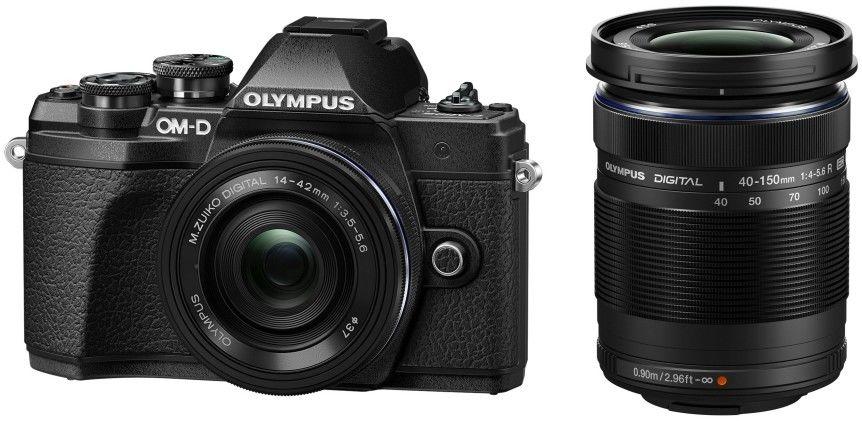 Olympus OM-D E-M10 Mark III+ 14-42mm EZ + 40-150mm R Czarny