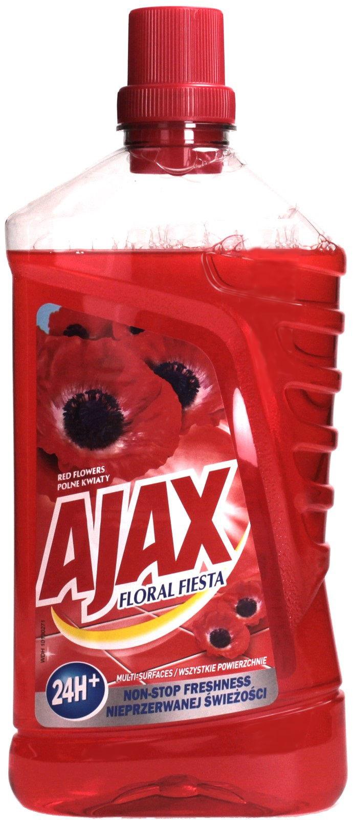 Płyn uniwersalny 1L Ajax KwiatyCzerwone
