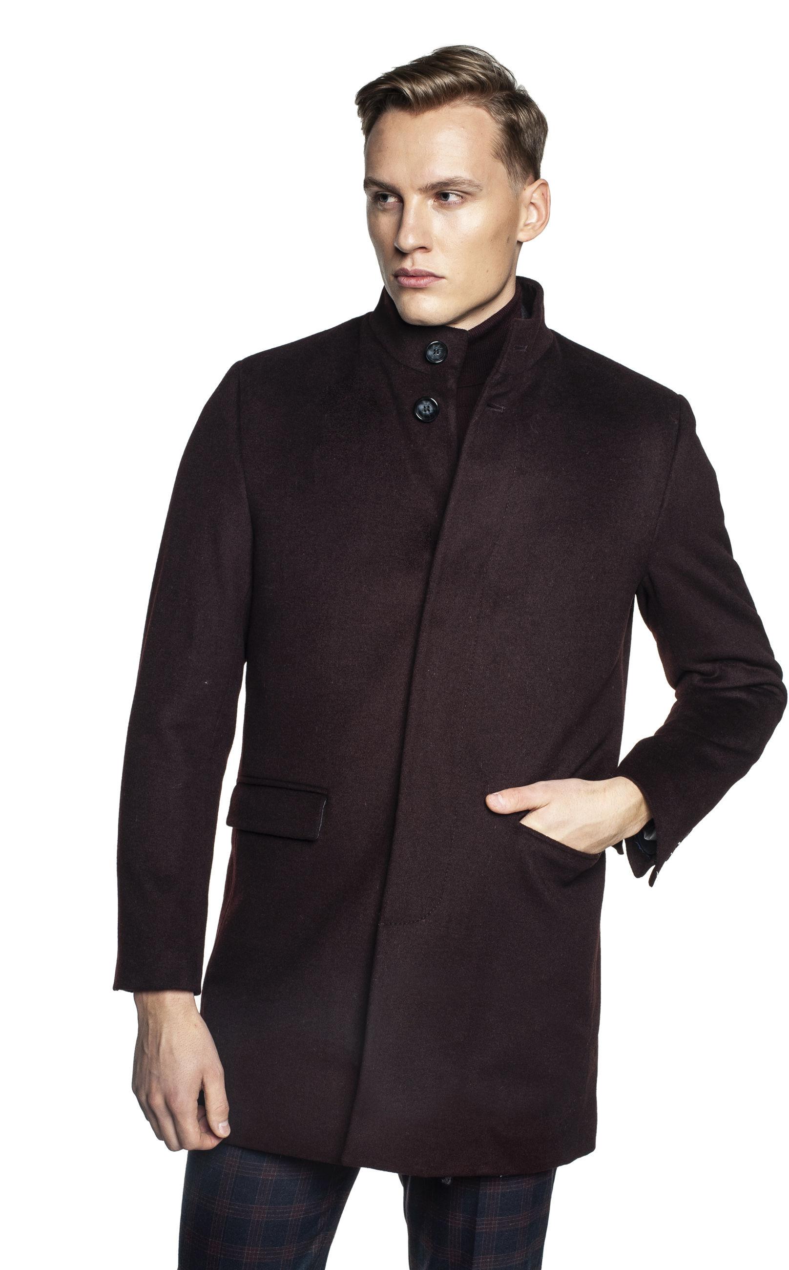 płaszcz harol bordo