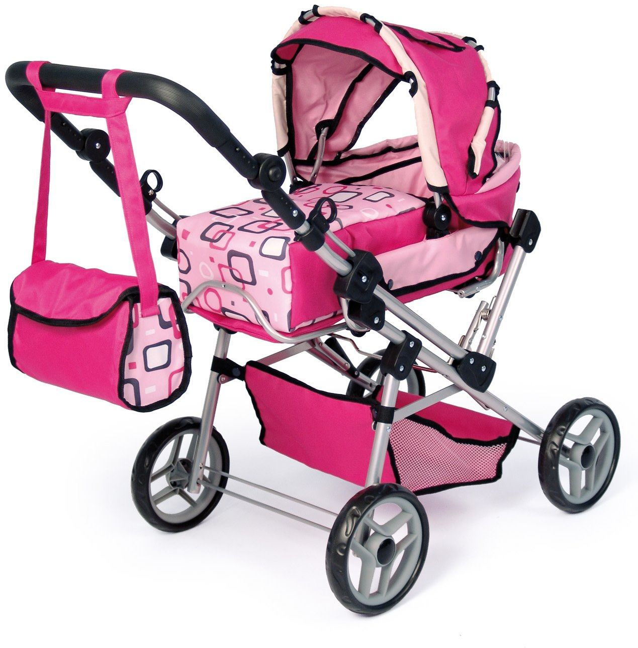 Bayer Design 19197 - wózek dla lalek Trendsetter różowy