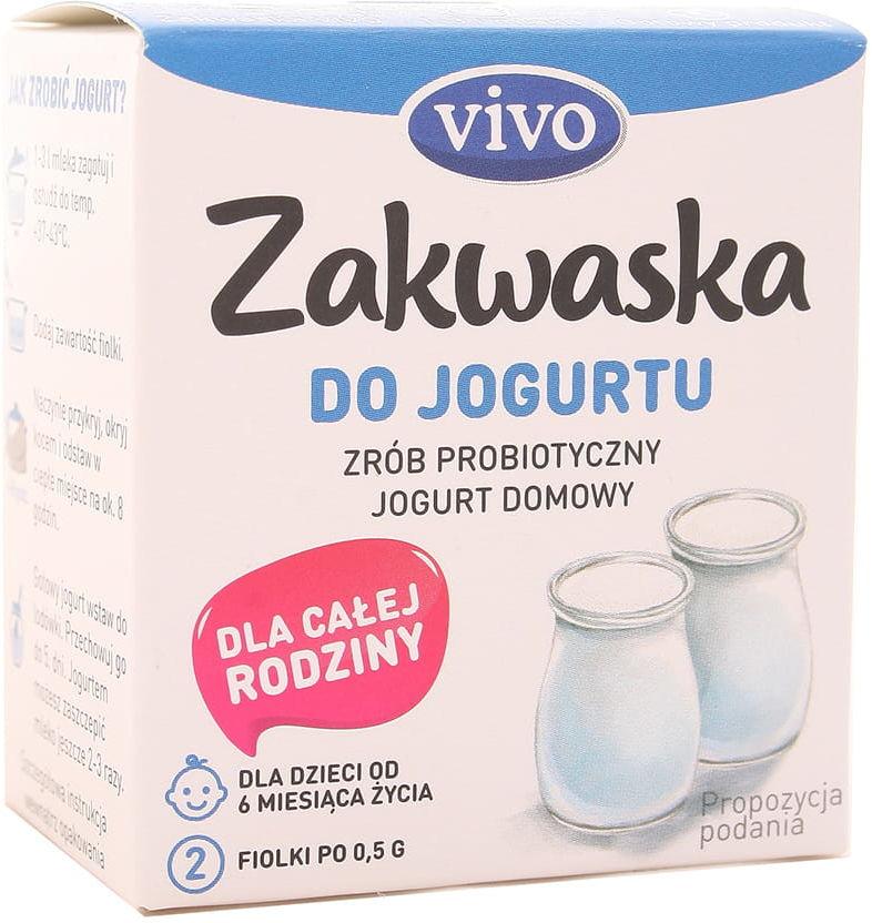 Zakwaska do jogurtu żywe kultury bakterii Vivo - 2x0,5g