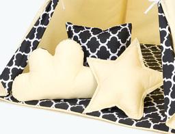 MAMO-TATO Komplet poduszek 3 szt. Cytrynowy / maroko czarne
