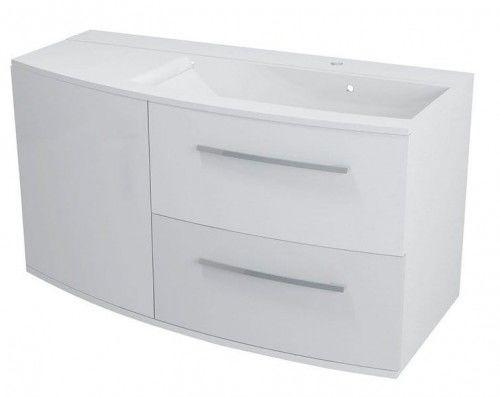 Szafka umywalkowa 100,5x55x50cm Soft Close biała PRAWA