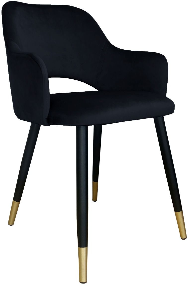 Krzesło NAPO VELVET GOLD czarne