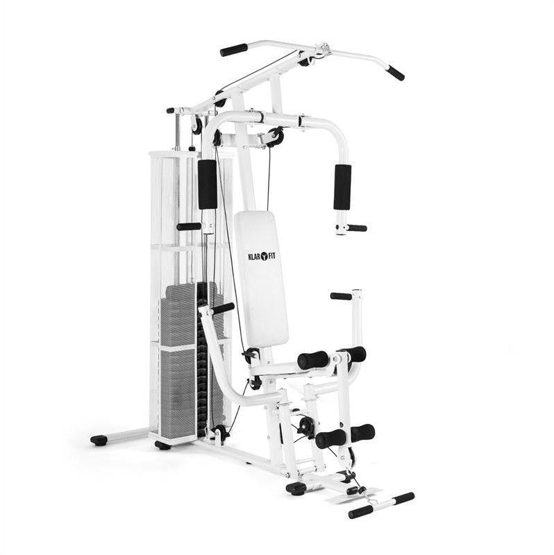KLARFIT Ultimate Gym 3000 Wielofunkcyjny atlas Stanowisko treningowe biały
