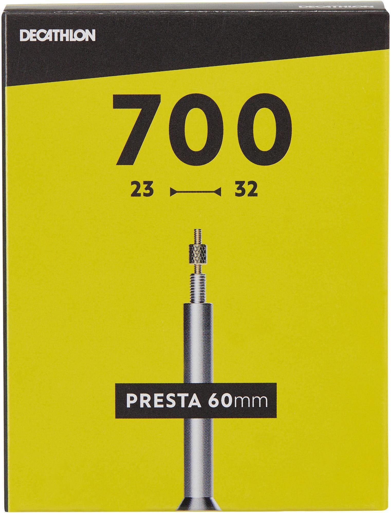 DĘTKA ROWEROWA 700x23/32 Z WENTYLEM PRESTA 60 MM