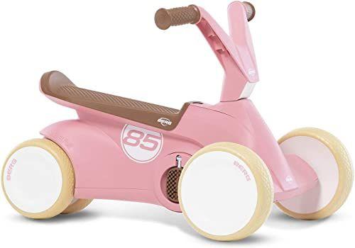 Berg GO  2 w 1 auto antypoślizgowe w stylu retro, różowe zjeżdżalnia i rowerek biegowy, wózek dziecięcy z rozkładanymi pedałami, gokart, zabawka dla dzieci, dla dzieci w wieku 10  30 miesięcy