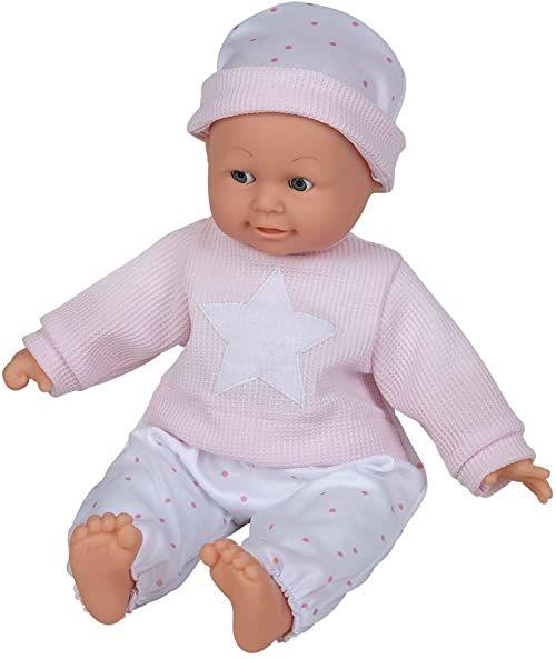 Happy People 50308 lalka dla niemowląt z dźwiękiem, wielokolorowa