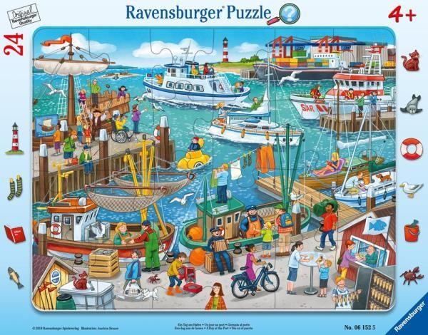 Puzzle 24el ramkowe Dzień w porcie 061525 RAVENSBURGER (RAP 061525)