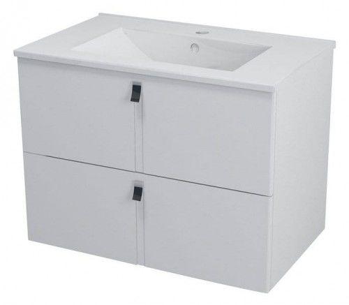 Szafka umywalkowa SoftClose 75,5x55x46cm, biała MITRA