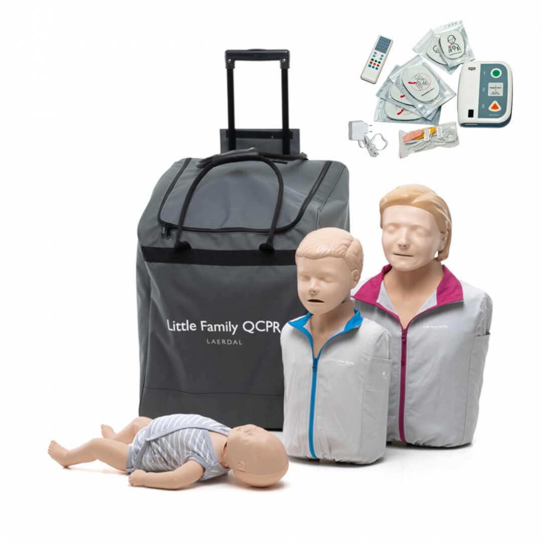 Zestaw fantomów Little Family QCPR z defibrylatorem