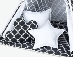 MAMO-TATO Komplet poduszek 3 szt. Maroko czarne / biały