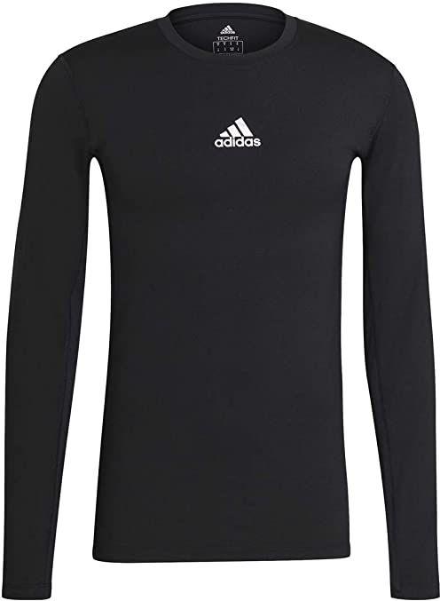 adidas Koszulka męska Techfit Compression Long Sleeve Tee czarny czarny 4xl
