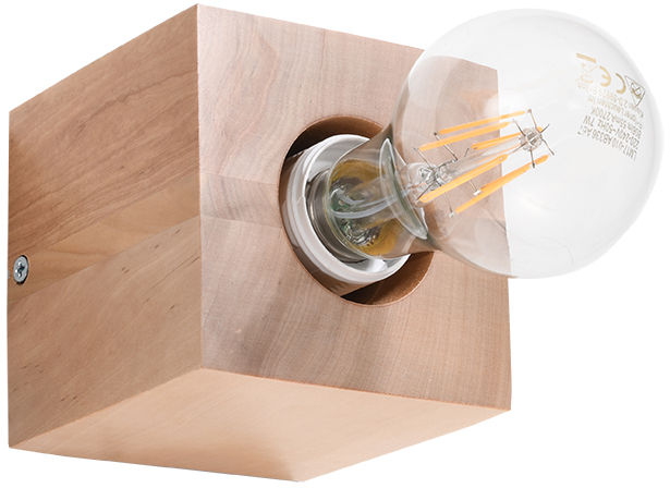 Kinkiet ABEL naturalne drewno - Sollux