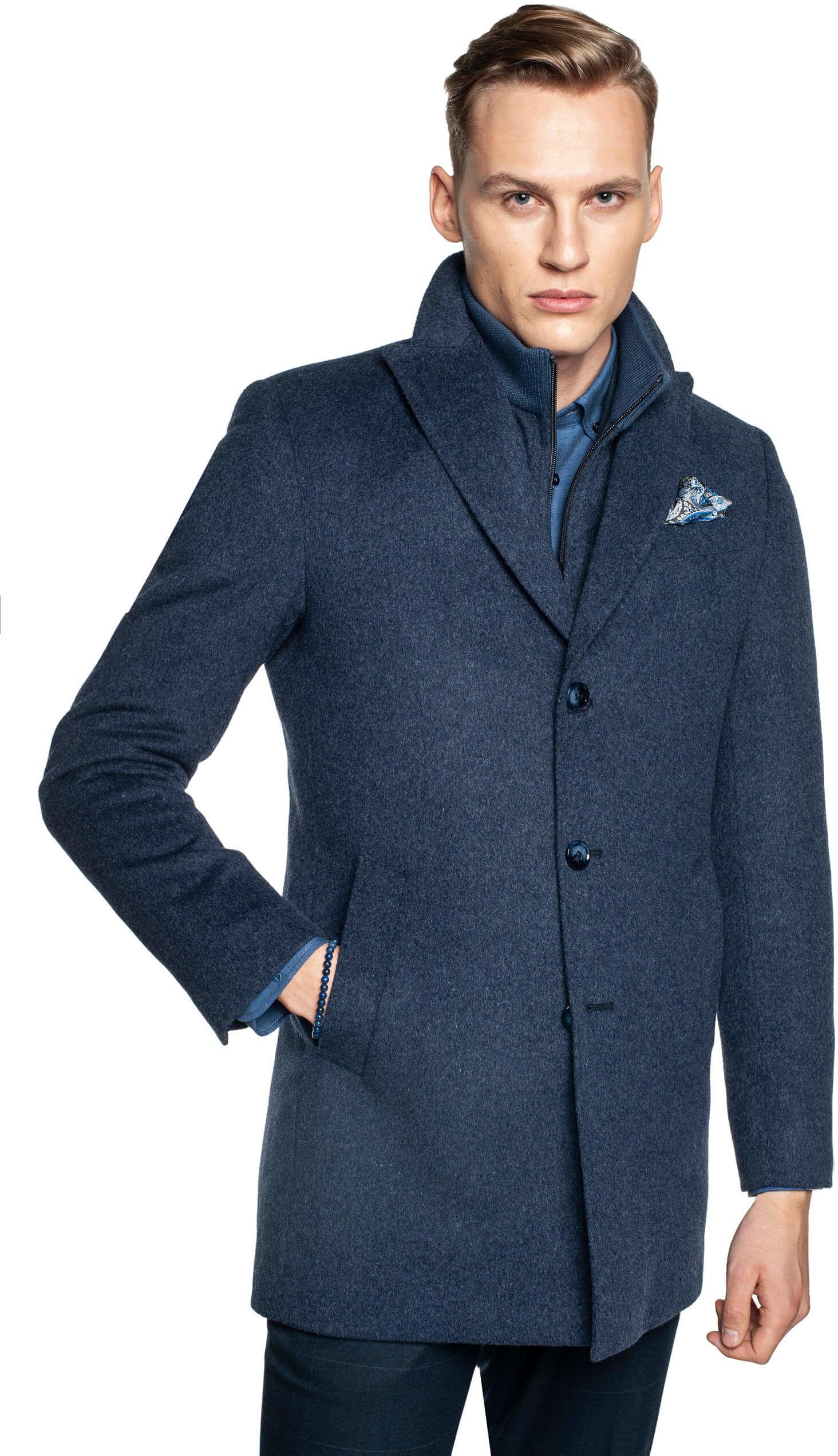 płaszcz worsley niebieski