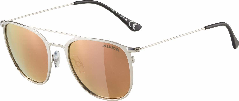 ALPINA Unisex - Dorośli, ZUKU Okulary przeciwsłoneczne, silver matt/rose-gold, One Size