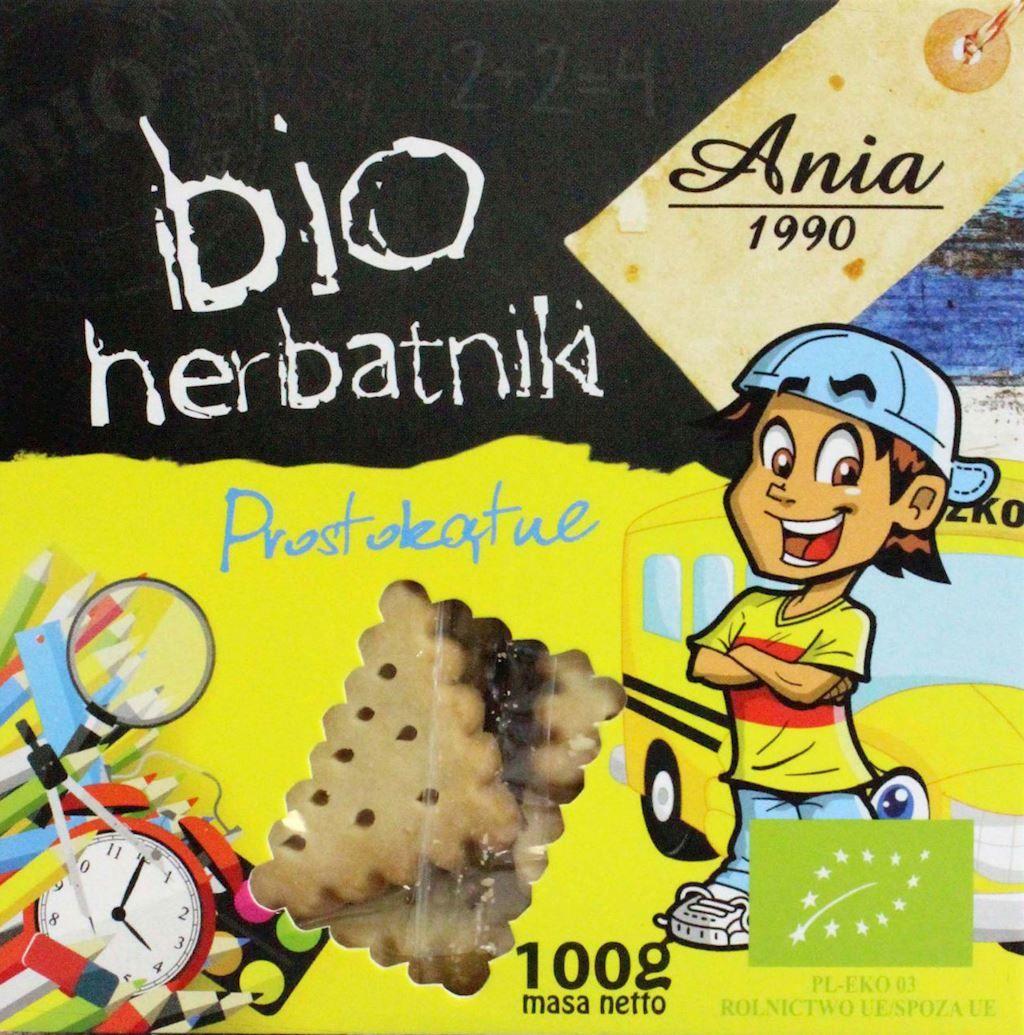 Herbatniki prostokątne BIO - Ania - 100g
