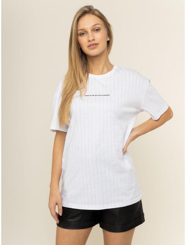 Guess T-Shirt W01I92 K7DN0 Biały Regular Fit