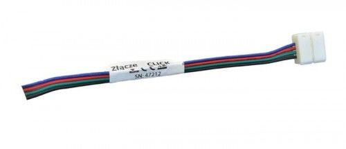 Złączka CLICK pojedyńcza do taśm LED RGB wodoodpornych 10mm + przewód