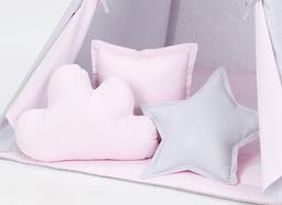MAMO-TATO Komplet poduszek 3 szt. Popiel / jasny róż