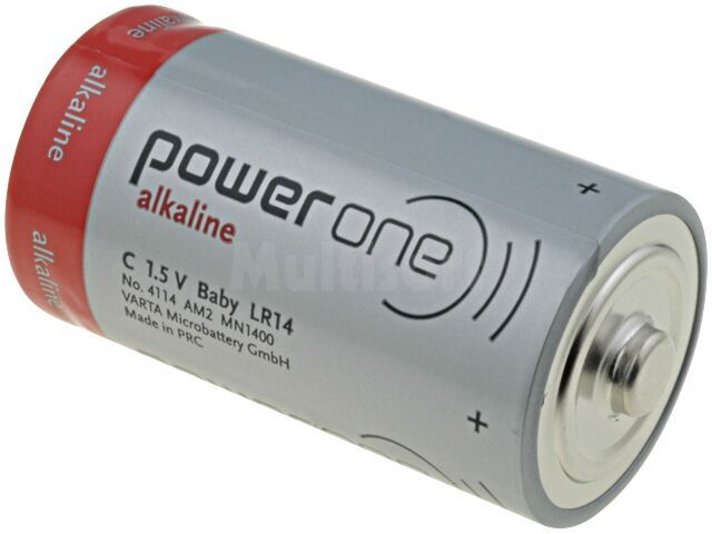 Bateria alkaliczna 1,5V C Power One fi26,2x50mm 7800mAh