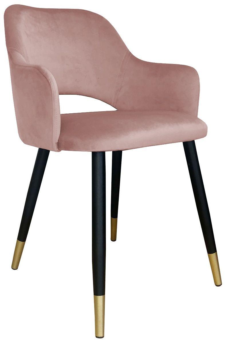 Krzesło NAPO VELVET GOLD różowe