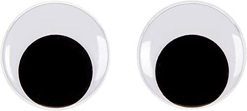 Darice 144 sztuki ruchomej pasty na oczy, 30 mm, czarny