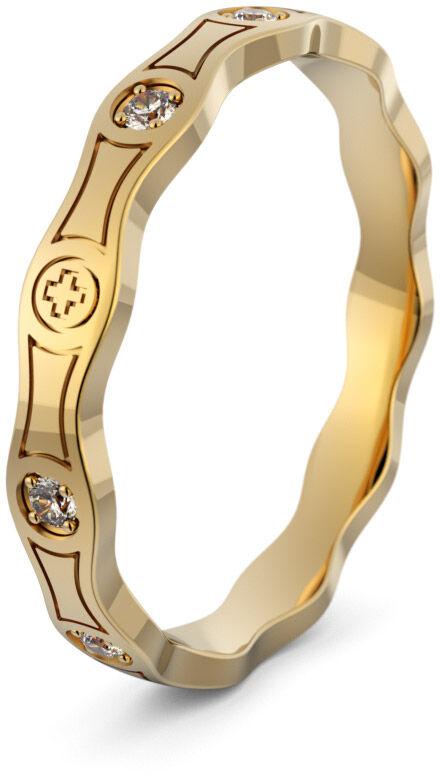 Pierścionek złoty różaniec - Au-1095
